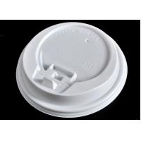 Quality Ice Cream Paper Cups Lids , White Coffee Mug Lid Cover Lightweight for sale
