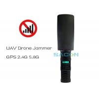Quality Light Weight 2.4G 5.8G GPS 500m Handheld Drone Signal Jammer for sale