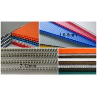 China 2440x1220mm 3mm 4mm polypropylene corrugated plastic sheet , Flute PP Sheet on sale