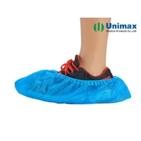 Quality Blue Disposable CPE/PE 1.2g Plastic Shoes Cover Waterproof for sale