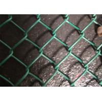Quality Lightweight Pvc Coated Chain Link Fence Mesh Green / Black / Blue Color for sale