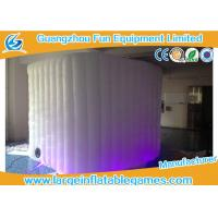 China Pvc Coated Oxford Inflatable Photo Booth Lighting Air Tent For Promotional on sale