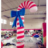 Quality Christmas Inflatable Candy Cane Model for Outdoor Christmas Decoration for sale