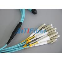Quality High Stability OM4 MTP Fiber Optical Patch Cord For 40G Networks for sale
