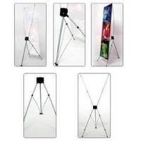 China Adjustable X Stand Banners Pvc Film With Grommets Long Life Printed 32 X 70 on sale