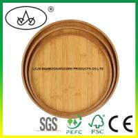 China China Round Bamboo Food/Tea Serving Tray for Kitchenware,Tableware,Dinnerware on sale