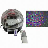 Quality 3W RGB Auto/Sound Active/MP3 Player LED Crystal Magic Ball for Party Christmas, KTV and More for sale