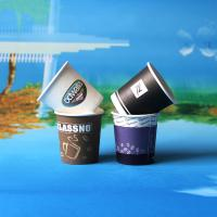 Quality Single Wall Tea Or Coffee Custom Printed Paper Cups Disposable Feature for sale