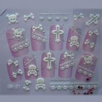 Quality Nontoxic 3-D Nail Stickers, RoHS and EN71 Certified for sale