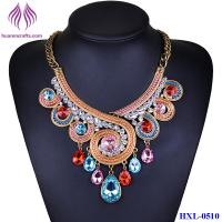 Buy cheap Women Fashion Spiral rhinestone Necklaces Pendants Vintage color crystal jewelry from wholesalers