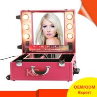 Quality Professional Elegant & Quality PVC makeup case with lights for sale