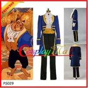 China Wholesale Beauty and the Beast Prince Adam Cosplay Costume Jacket Shirt Pants Cartoon on sale