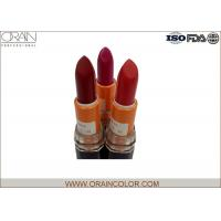 Quality Classic beautiful Red Make Up Lipstick / Mineral long last lipstick customized for sale