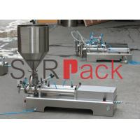 Double Heads Pressure Ointment Filling Machine for Water Milk 5-20 Bottles / min