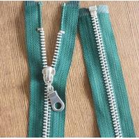 8# Light Gold Teeth Long Separation Metal Zippers For Tent , Sleeping Bag