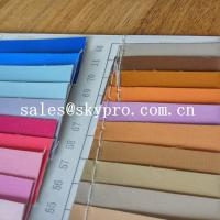 Quality Fashion design pvc synthetic leather pu coated leather with backing fabric for sale