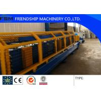 China 1.5 MM GI Metal Deck Roll Forming Machine With 28 Forming Stations And Automatic Stacker And Safety protective cover on sale