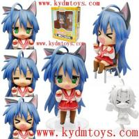 Quality MOQ(USD300) 10cm cute toys of lucky star with face transplant anime figure toys (pc) ky1246 for sale