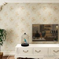 Buy cheap Simple Beautiful Flower embossed Waterproof Vinyl Wallpaper Coverings from wholesalers