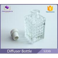 Quality Cylinder Clear Empty Aroma Reed Diffuser Perfume With Cork Stopper for sale