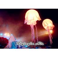 White Inflatable Jellyfish with Led Light for Concert and Stage Decoration