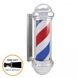 Quality Salon Sign Light Revolving Barber Pole Classic Illuminating Rotating Stripes for sale