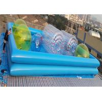 Colorful 1.0MM PVC Water Ball Inflatable Water Parks / Double-layer Inflatable Pool