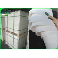 Quality 60gsm White Kraft Paper Roll FDA Food Packaging With Strong Bursting Resistance for sale