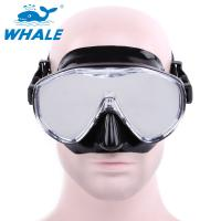 China Free Diving Adults womens dive mask Flexible Silicone Tempered Glass Lens on sale