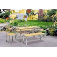 Quality Garden,Outdoor Furniture,Outdoor Garden Furniture/304# Stainless Steel Polywood Dining Set (BZ-N003) for sale
