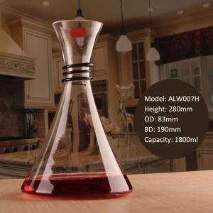 Creative Anti Slip Spiral Rubber Neck Mini Glass Decanter for Sale
