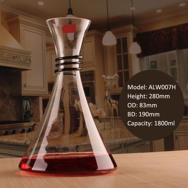 Buy Creative Anti Slip Spiral Rubber Neck Mini Glass Decanter for Sale at wholesale prices