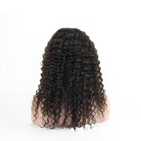 Quality Real Human Hair Wig Deep Wave Front Lace Headgear 8A 18 inch DC Semi-mechanical headgear can be customized for sale