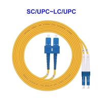 Quality FTTH Single Mode Fiber Optic Cable SC UPC To LC UPC For Floor Connection for sale