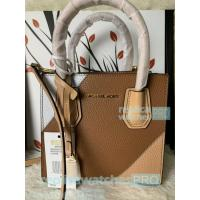 China New Knockoff Michael Kors Mercer Brown Genuine Leather Women's Bag on sale