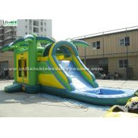 Quality Big Outdoor Jungle Inflatable Bounce Houses With Water Slide Weight 209 Kg for sale