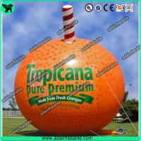 Quality Event Advertising Inflatable Fruits Model Orange Replica/Promotion Inflatable Fruits for sale