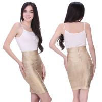 Quality Soft fabric bronzing multi color one piece bandage dress mini skirt for sale