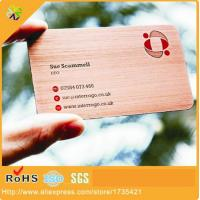 China Good Quality Customized Engraved Metal Business Card on sale