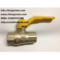 Quality yellow handle brass gas ball valve PTFE/VITON O-ring Brass Gas Valve/ brass gas isolation valve for sale