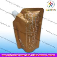 Quality side spout pouch packaging for drink, bottom gusset bag for sale