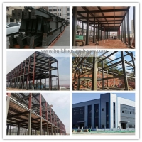 Buy cheap S355 Light Steel Structure Warehouse Building With Grey Color Paint from wholesalers
