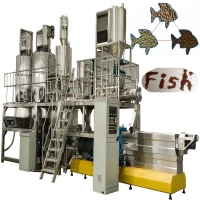 Quality Twin Screw Floating Fish Feed Pellet Making Machine Electricity Energy for sale
