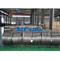 Quality TP304L / 1.4306 Small Diameter Stainless Steel Coiled Tubing For Cable Industry for sale
