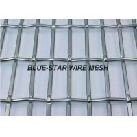 Quality Rectangle / Slot Hole Crimped Wire Mesh Screen Stainless Steel For Facade Vibering Screen for sale