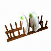 China Bamboo Dish Rack/Plate Holder, An Elegant and Eco-friendly Kitchenware Accessory on sale