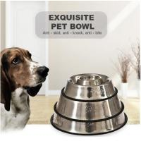 Quality Multifunction Hot Sale New Type Printed Lovely Stainless Steel Dog Pet Feeding Bowl for sale