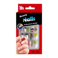 China Nail Art Spring summer Fake Nails For little girls / Pre Glued Fake Nails on sale
