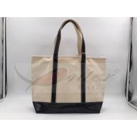 Quality Beige Canvas Washable Tote Bag , Personalized Canvas Tote Bags 32*29.5*13.5 Cm for sale