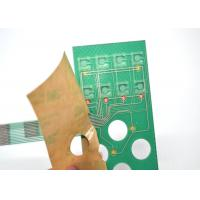 Quality Push Button Single Membrane Switch LED , Flat PCB Membrane Switch Panel for sale